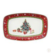Блюдо Repast Christmas world Bordo 30*19 см